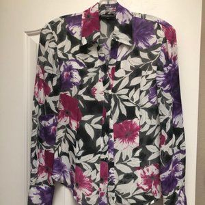 Jones New York Floral Blouse - Size 4